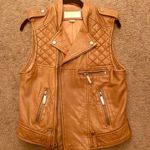 Michael Kors Leather Vest - NWOT!!